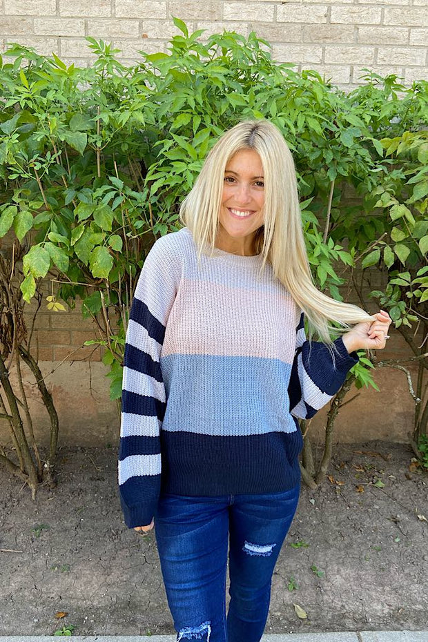 Crushing On Autumn Colour Block Sweater