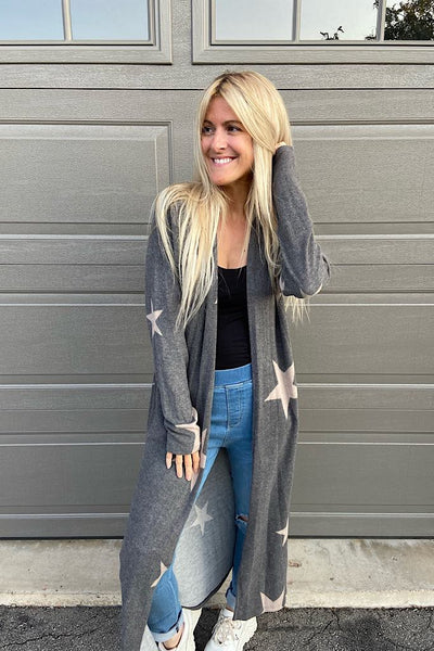 Soft Brushed Charcoal Star Duster