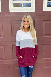 Carefree Colourblock Sweater Top