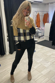 Plaid Cozy Weekend Hoodie-New Colour