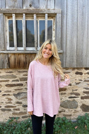 This Is So Good Boho Waffle Top-Pink