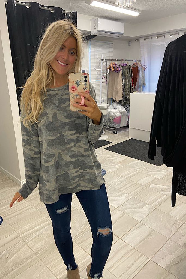 So Much Goodness Camo Top