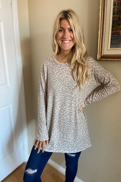 Beige Lola Animal Print Tunic