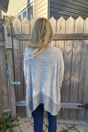 Grey Soft Brushed Cardigan- Promo Line