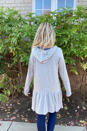 The Grey Becky Hooded Mini Tunic Dress-Promo Line