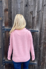 Candy Pink Lace Sweater