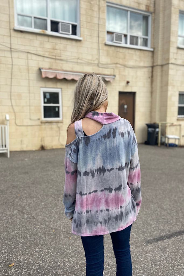 Cutest Cuddles Soft Tie Dye Cut Out Top-Black Friday Week