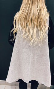 Heather Grey Oversized Vest