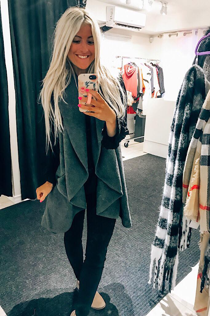 Dark Grey Oversized Vest