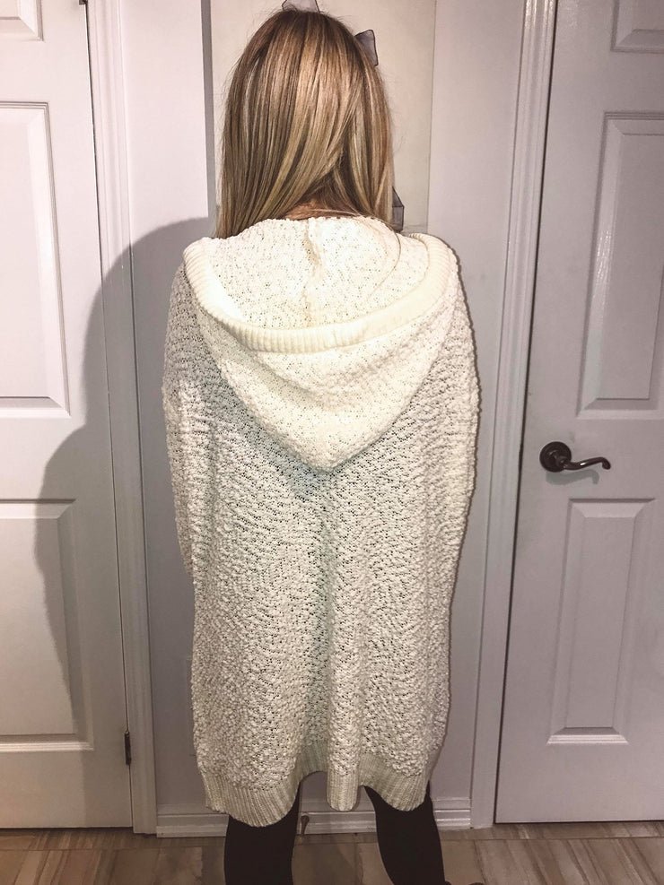 Cozy Soft Teddy Cardigan- Ivory