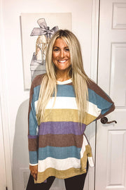 Colour Rainbow Loose Boho Top