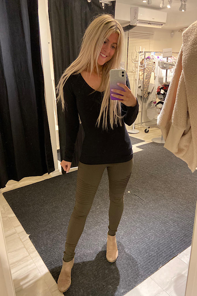 Perfect Fit Black Fitted Long Sleeve Top
