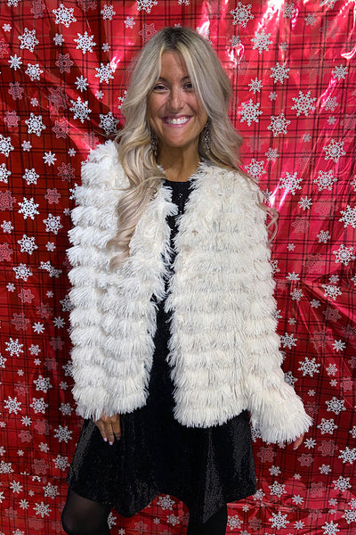 Luxury Faux Fur Holiday Coat