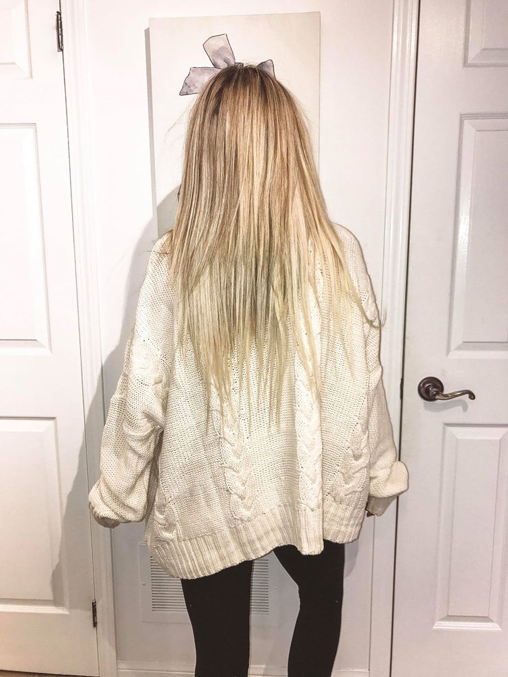 Hot Chocolate Ivory Chunky Knit Sweater