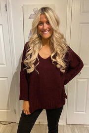Gorgeous Merlot Wine Knit