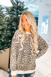 Dropping Leopard Thermal Pullover
