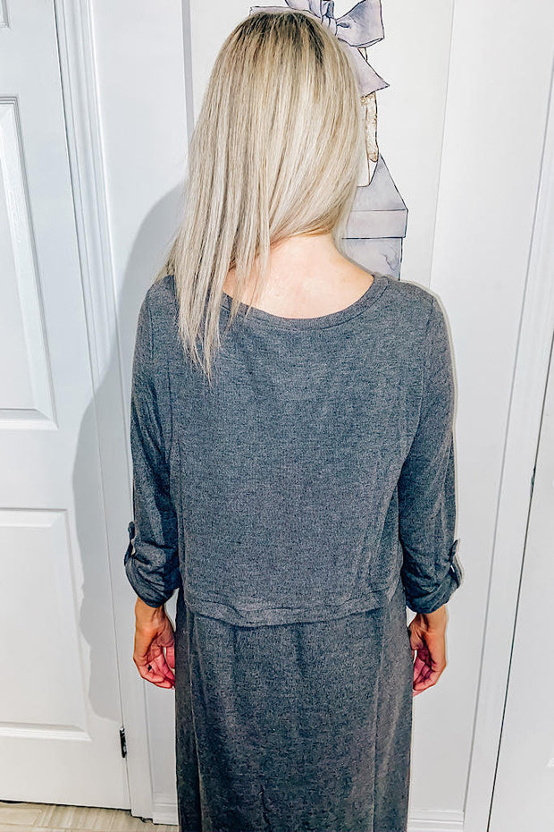 Independent Power Charcoal Tunic