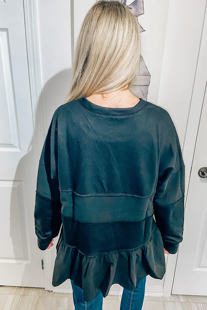 The Classy Black Sandy Sweater- Promo