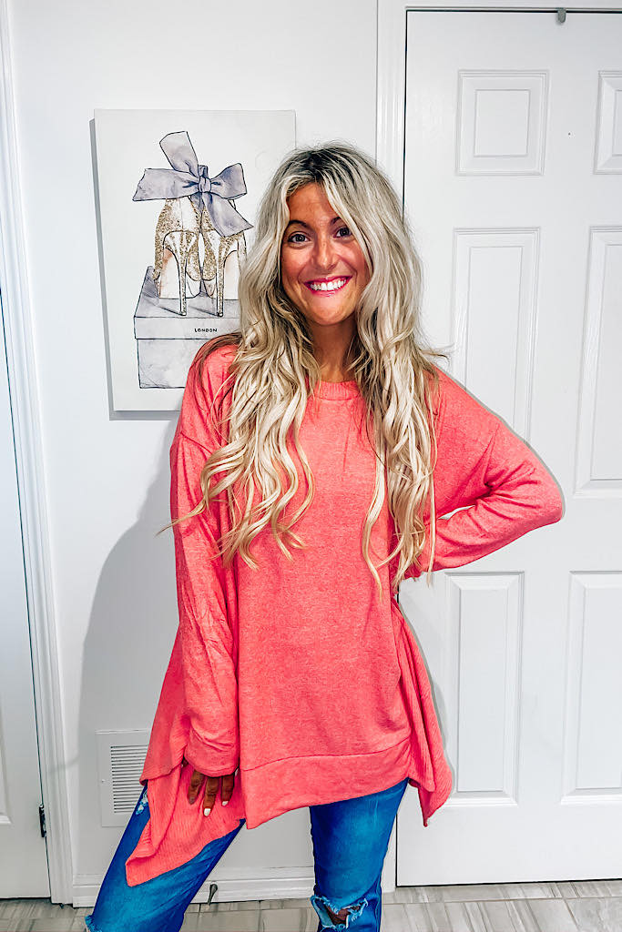 Pre Order Turn Heads With Discovery Coral Tunic
