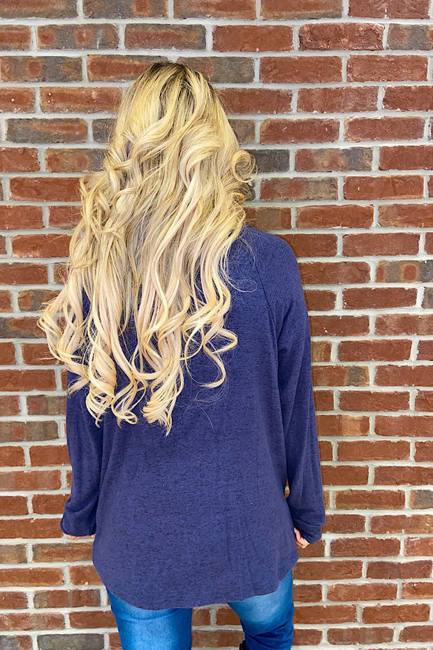 The Super Soft Sally Navy Knot Top