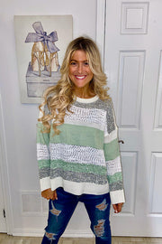 Sage Sparkle Me Knit Sweater