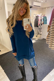 Teal Soft French Terry Tunic -Promo Line