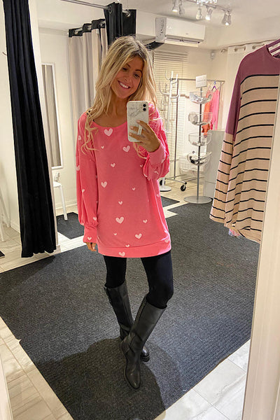 You Have My Heart Pink Tunic