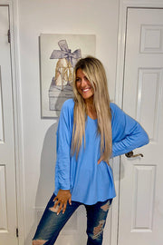 Vibrant Blue Italian Lightweight Sweater