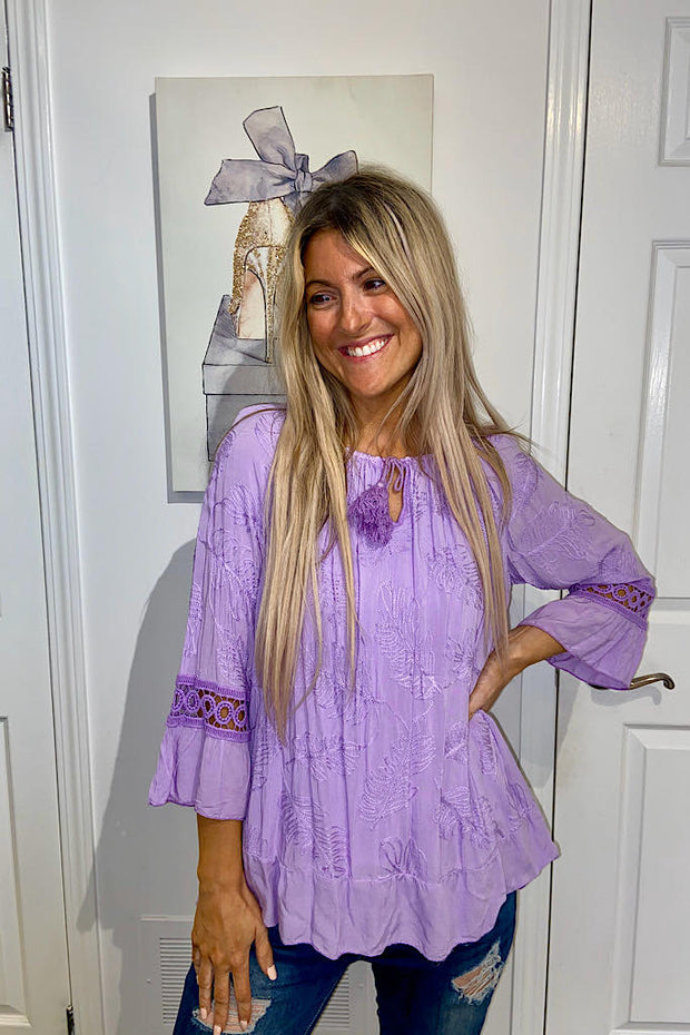 Dressy Italian Purple Blouse