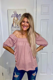 Pretty In Pink Ruffle Top