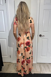 Blush Fit and Flare Classy Maxi