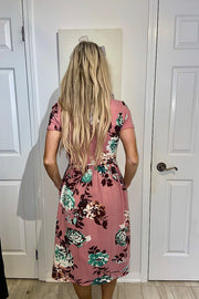 The Delia Mauve Floral Dress