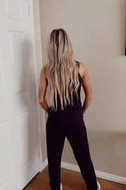 Black Soft Sleeveless Jumpsuit