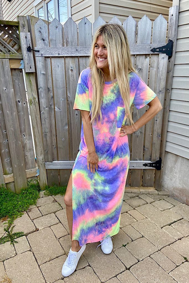 Pre Order Tie Dye Celebration Maxi Dress