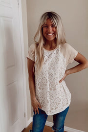 Pre Order The Taupe Lover Of Lace Overlay Button Back