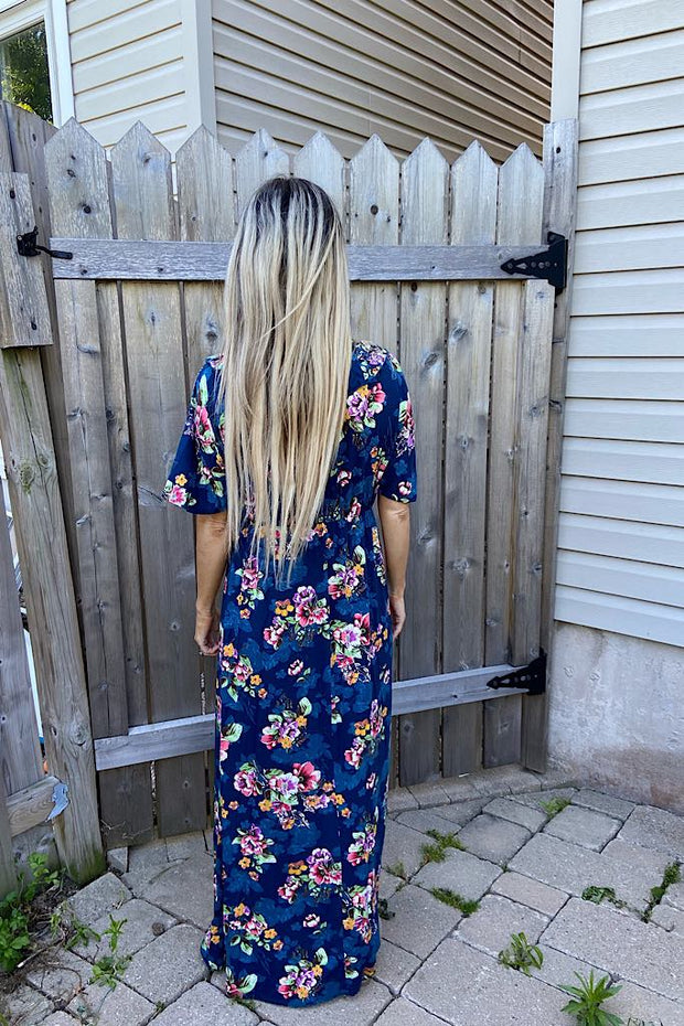 Navy Floral Dreams Maxi Dress