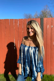 Tie Dye Fever Off The Shoulder Top