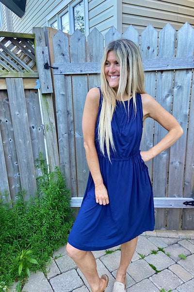 Navy Summer Days Bamboo Dress