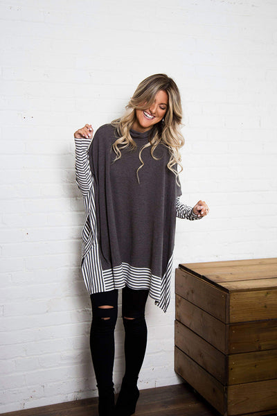 Boho Queen Striped Top