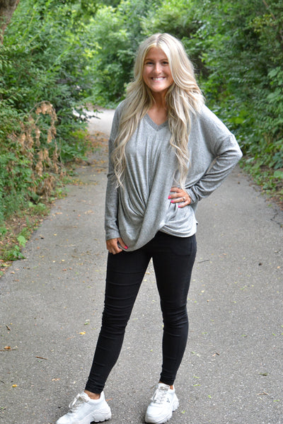 Heather Grey Super Soft Cannot Wait For Fall Top