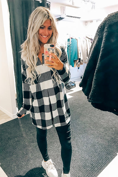 Meet Me By the Fire Plaid Top- Restocked