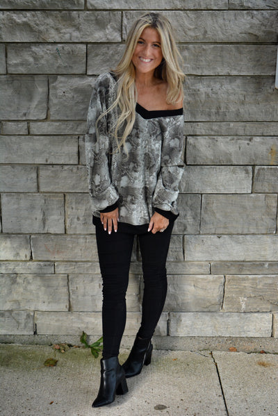 Animal Print Cozy Up Sweater- 2 Colours