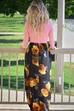 Stunning Floral Sash Tie Wrap Front Maxi Dress