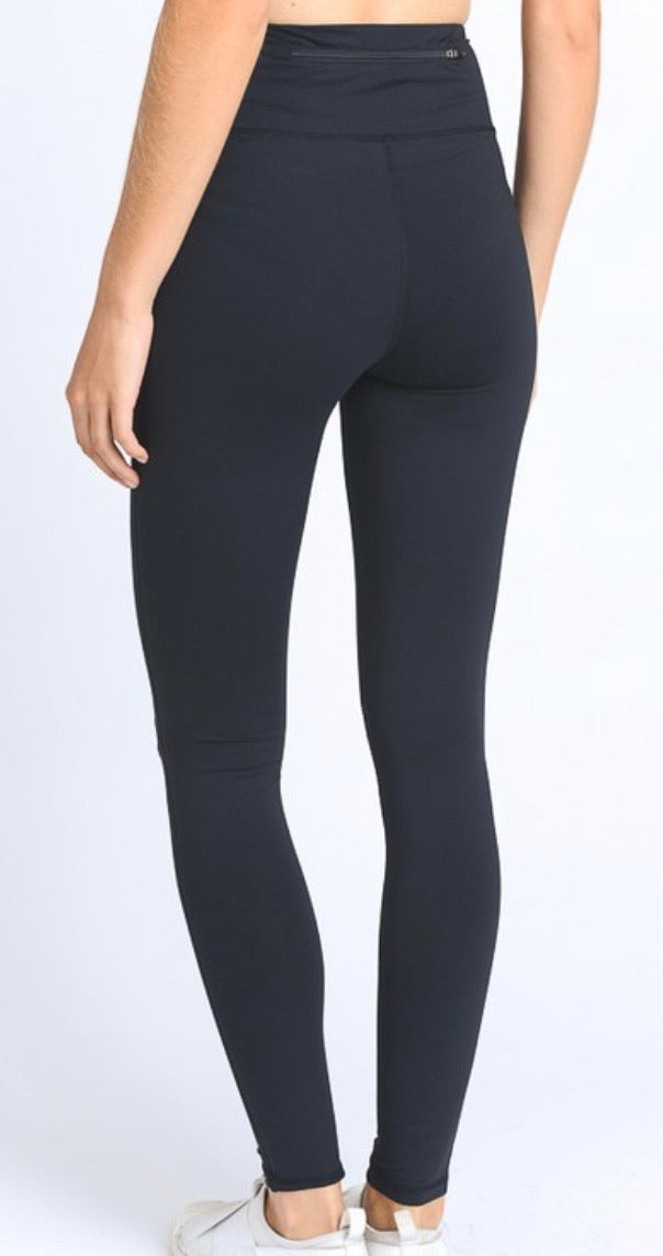 Knee Cut Out High Waisted Leggings