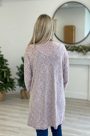 Burgundy Two Tone Soft Cardigan- Promo