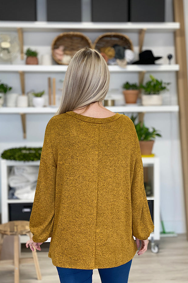 Two Tone Pullover Top-Butterscotch-Promo Line