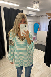 Mint Swirl Pop Of Animal Top