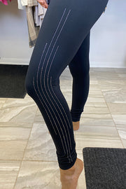 Black Rhinestones Highwaisted Leggings