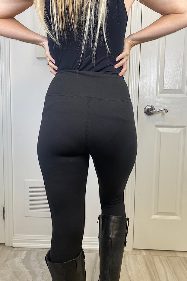 Beautiful Black Buttery Leggings-Promo