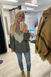 Chevron Cozy Animal Love Top